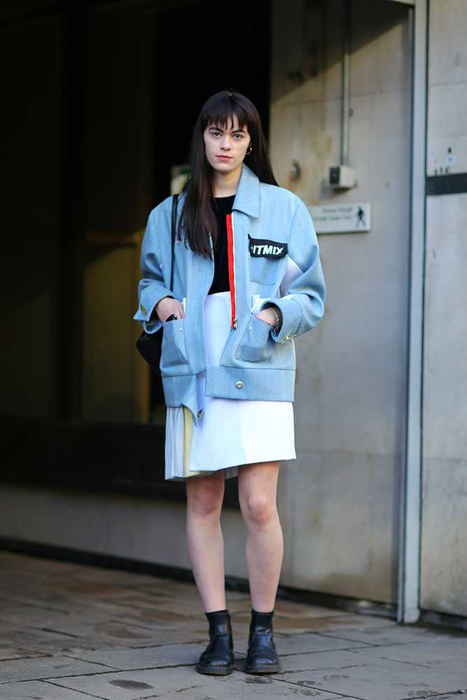 Danni Harris - miu miu jacket and skirt - elle