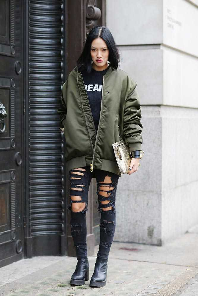 Tiffany Hsu - Acne jacket - elle